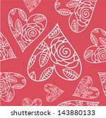 seamless pattern with heart and ...
