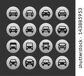 auto icon set   Shutterstock .eps vector #143885953