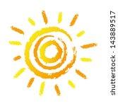 abstract sun | Shutterstock .eps vector #143889517