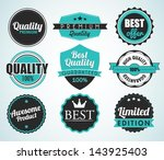 set of vector badges | Shutterstock .eps vector #143925403