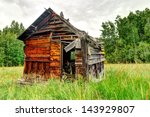 An Old Wooden Shed In The...