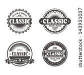 classic badge | Shutterstock .eps vector #143931037