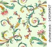 Elegant Vintage Floral Pattern...