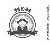 mom retro profile picture | Shutterstock .eps vector #143945257