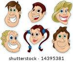 smiling face fridge magnet... | Shutterstock . vector #14395381