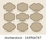 vector retro labels | Shutterstock .eps vector #143966767