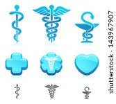 medical symbol set. vector | Shutterstock .eps vector #143967907