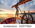 Sunrise At Sea On A Tall Ship...