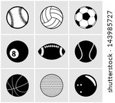 sports ball icon set | Shutterstock .eps vector #143985727
