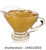 Mustard Dish Sauce  Isolated O...