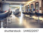 interior of modern hair salon   Shutterstock . vector #144022057