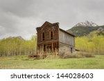 hotel in ghost town | Shutterstock . vector #144028603