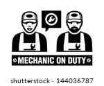 mechanic icon. mechanic on duty.   Shutterstock .eps vector #144036787