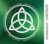 white triquetra symbol on green ... | Shutterstock .eps vector #144078193