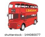 london bus vector | Shutterstock .eps vector #144080077