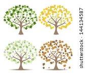 set of maple trees vector... | Shutterstock .eps vector #144134587