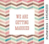 vector illustration. wedding... | Shutterstock .eps vector #144140203