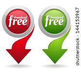 two free download buttons with...