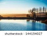 Stock photo colorful autumn on lake 144154027