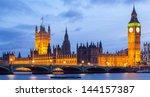 Panorama Cityscape Of Big Ben...