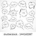 set of hand drawn ink speech... | Shutterstock .eps vector #144160387