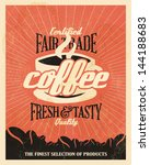 retro vintage coffee background ... | Shutterstock .eps vector #144188683