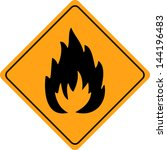 fire warning sign isolated | Shutterstock .eps vector #144196483