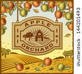agriculture,apple,autumn,background,barn,branch,countryside,crop,design,drawing,engraving,farm,fields,food,frame