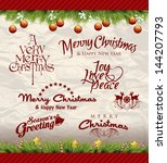 christmas decoration collection ...   Shutterstock .eps vector #144207793