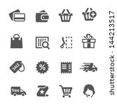 Simple shopping icons.
