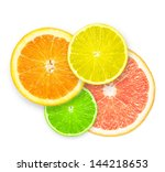 Stack Of Citrus Fruit Slices ...
