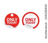 only today sale signs set.... | Shutterstock .eps vector #144230443
