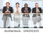 group of business people... | Shutterstock . vector #144231313