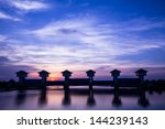 bangpakong watergate  the...   Shutterstock . vector #144239143