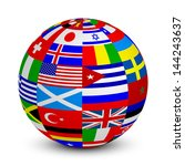 illustration of 3d sphere with... | Shutterstock . vector #144243637