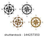 set of antique compasses set... | Shutterstock .eps vector #144257353