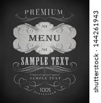 chalk label  typography ... | Shutterstock .eps vector #144261943