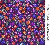 seamless flowers  rasterized...   Shutterstock . vector #144262513