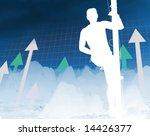 metaphoric abstract  image  man ... | Shutterstock . vector #14426377