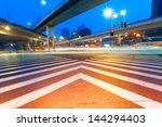 junction with light in shanghai   Shutterstock . vector #144294403