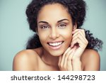 portrait of a beautiful young... | Shutterstock . vector #144298723
