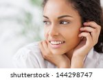 portrait of a beautiful smiling ... | Shutterstock . vector #144298747
