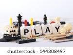 detail of board games  pawns ... | Shutterstock . vector #144308497