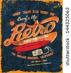 vector retro surf poster   Shutterstock .eps vector #144325063