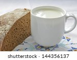 bread and milk | Shutterstock . vector #144356137