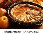 arrangement of home made apple... | Shutterstock . vector #144393553