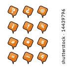 the alphabet on orange tags | Shutterstock . vector #14439796