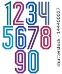 double line geometric numbers ... | Shutterstock .eps vector #144400027
