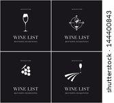 wine list menu card design... | Shutterstock .eps vector #144400843