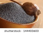 Bowl With Poppy Seeds And Dry...